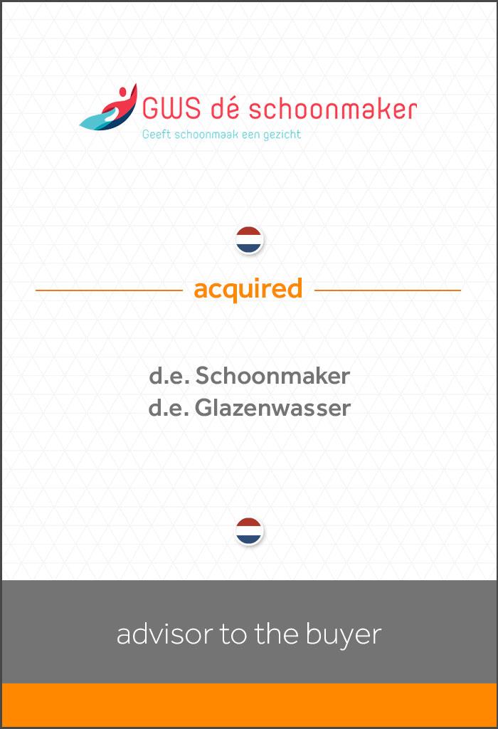 transactie-GWS-acquired-d.e. Schoonmaker